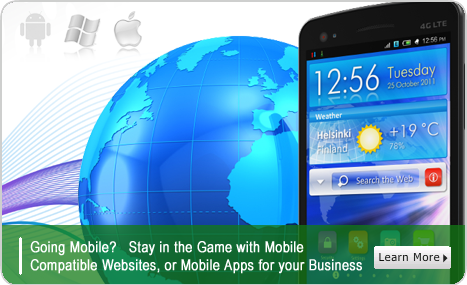 Learn more about our mobile compatible web development, mobile apps in Android, iOS, and Win Mobile